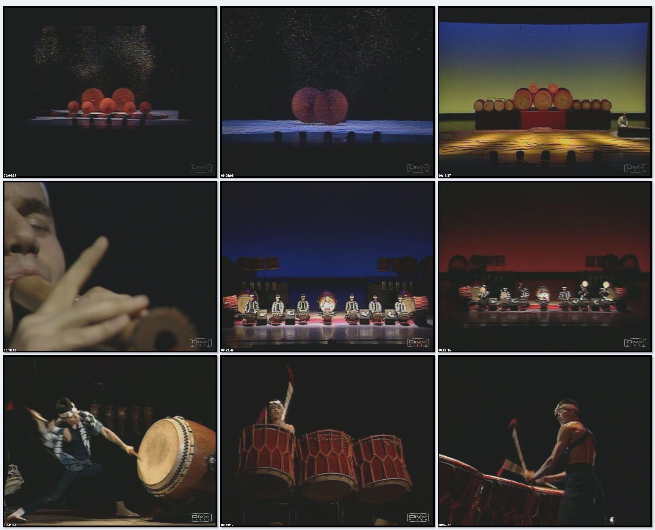 Видео запись шоу Ondekoza 95 года / Ondekoza Live'95